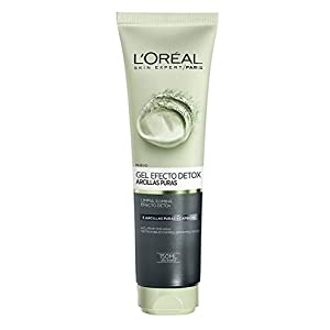 L'Oreal Paris Dermo Expertise – Arcillas puras gel limpiador detox, color negro – 150 ml