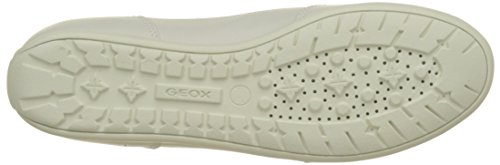 Geox Damen D New Moena D Sneaker Beige (Skin/Off White)