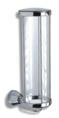 Designer Tampon portasalviette & Tampon titolare-Vetro Dispenser-cromato rotondo dimensioni: 77X 225X 104mm 6372di montaggio a (Designer Dispenser)