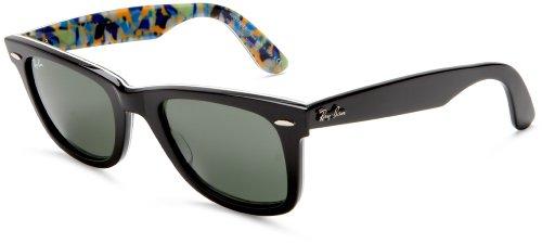 Ray Ban Original Wayfarer (RB2140) Top Black-Flow-ORAN-Blue Crystal Green Sunglasses