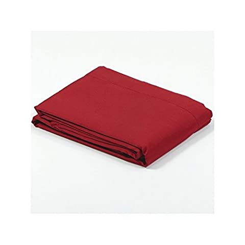 Drap plat satin 270x300 - Couleur: Rouge