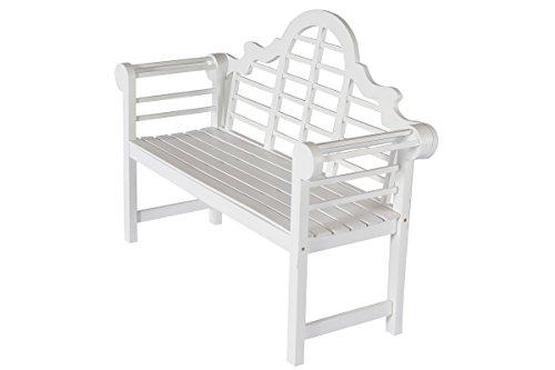 Villana Gartenbank, Holz, weiß, 180 x 90 x 84 cm