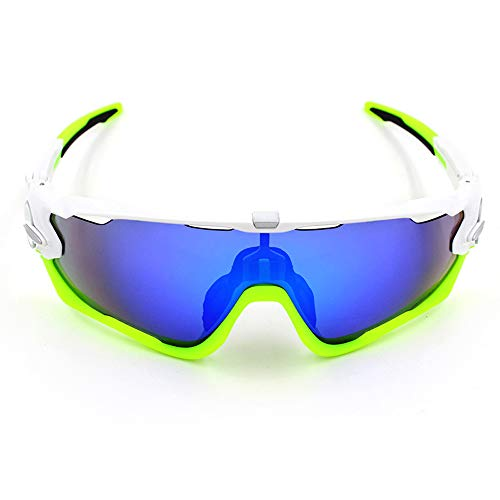 Yiph-Sunglass Sonnenbrillen Mode Männer und Frauen Sport Sonnenbrillen Mountain Bike Bike Windproof Outdoor für (Color : 1, Size : One Size)