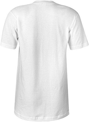 Manufactured 2007 - V-Neck T-Shirt Frauen-Damen - hochwertig bedruckt mit lustigem Spruch - Die perfekte Geschenk-Idee (02) weiss