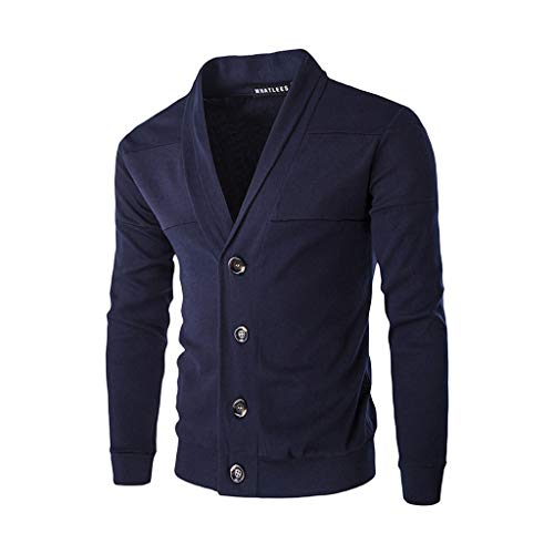 (Zegeey Herren Herbst Winter Warme Pullover Strickjacke Button Strickpullover Bluse Tops Outwear)