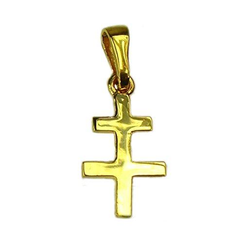 Souvenirs de France - Croix de Lorraine - Matériau : Argent Plein, Plaqué Or ou Or Plein 18-Carats