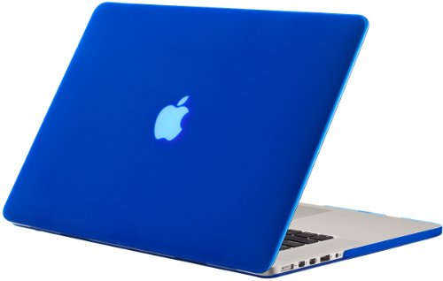 Kuzy - Blue Rubberized Hard Case Cover for Apple MacBook Pro 15.4