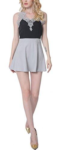 lletiertes Kleid, Einfarbig Gr. S, grau (Striper Kleid)
