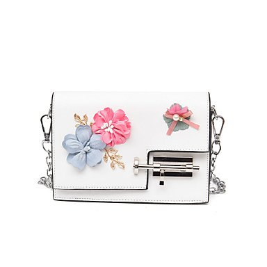 SUNNY KEY-Borsa a tracolla @ Donna Borsa a tracolla PU (Poliuretano) Per tutte le stagioni Casual Altro Con fermaglio Bianco Nero Rosso Rosa Grigio , gray blushing pink