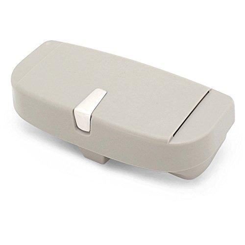 Relangce Brillenetui für Auto Sonnenblende,Brillenetui Käfig mit Kartenkarten Clip und Magnetischer Funktion,Sonnenbrille Halter/Brillenfach/Sonnenbrillenhalterung für Auto/LKW/PKW/KFZ (Grau)