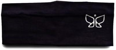 Deivee Black Sports Headbands for Women (Running, Jogging, Salons, Gyms, Spa, Sports, Tennis, Yoga, Aerobics)