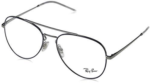 Ray-Ban Unisex-Erwachsene 0rx 6413 2981 56 Brillengestelle, Blau (Gunmetal Top Blue),