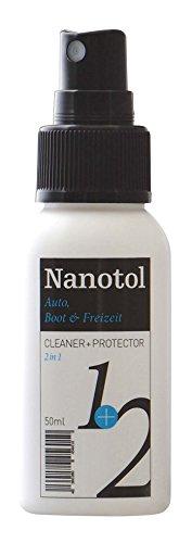 Preisvergleich Produktbild Nanotol Regenabweiser Scheibenversiegelung 2in1 Cleaner und Protector = Reinigung und Nanoversiegelung / Autopflege mit Lotuseffekt / Cockpit-Reiniger (50 ml)