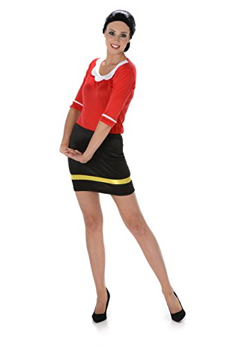 ancy Dress Olive Oye Cartoon Womens Adult Costume Outfit New (Medium UK 12-14 (European 40-42)) (Sailor Girl Kostüm Für Frauen)