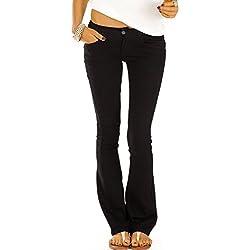 Bestyledberlin jean femme, jean bootcut taille basse j71kwn 38/M