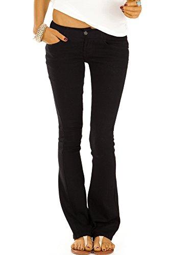 Bestyledberlin Damen Boot-Cut Jeans, Schlaghosen, Ausgestellte Hüftjeans j74kw 38/M