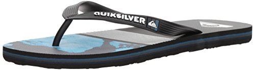 Quiksilver Molokai Lava Division Sandalias para Hombre, Negro (Negro/Azul/Gris), 8 D(M) US