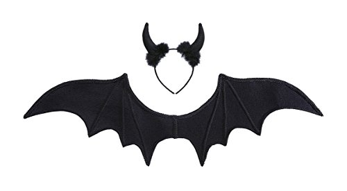 Widmann 8236S Kostümset Schwarzer Teufel, One (Halloween Flügel)