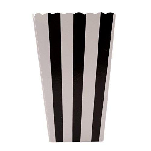 ipe Popcorn Tüte Papiertüte Popcorn-Boxen (schwarz) ()