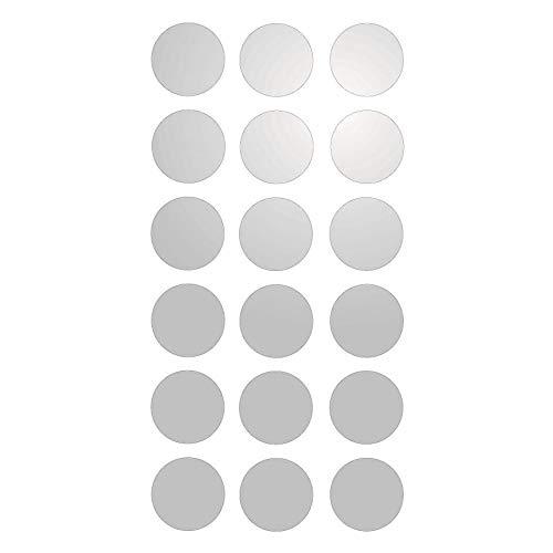 18 Pastilles adhésives réfléchissantes pour signalisation 3cm Blanc Réfléchissant
