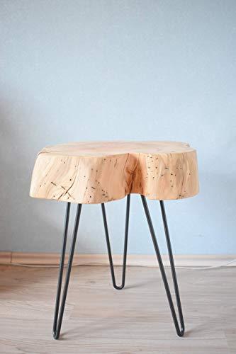 Retro Hocker Kaffeetisch Wohnzimmertisch Couchtisch Holz massiv -