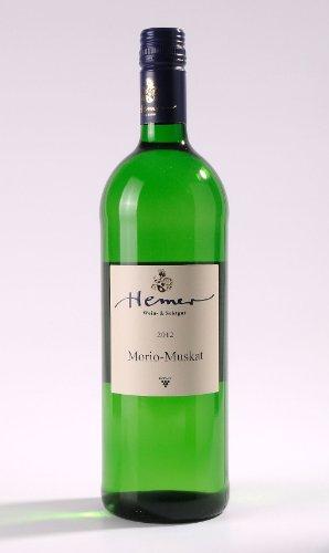 BIO Weingeschenkbox mit DropStop - Morio-Muskat Weingut Hemer Rheinhessen QbA 2014 1000ml Weißwein