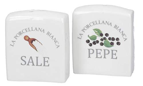 La Porcellana Bianca 2er Set Vintage Salz und Pefferstreuer Landhausstile CONSERVA Küche Deko dekorativ