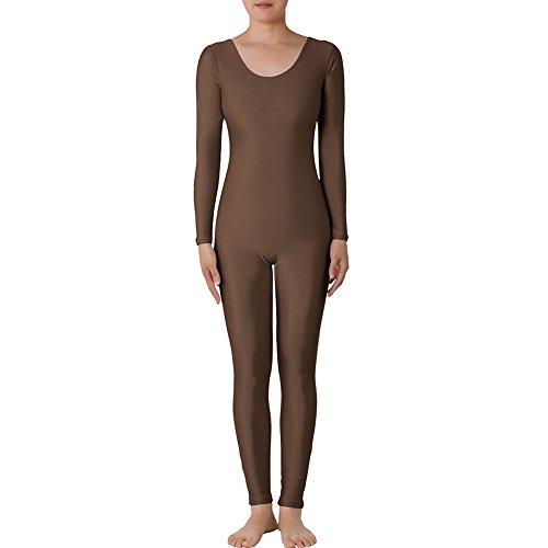 Muka Rundhalsausschnitt Lange Ärmel Unitard Lycra Zentai Bodysuit Catsuit Dancewear Gr. 38, - Beste Halloween-kostüm-ideen Paare Das Für