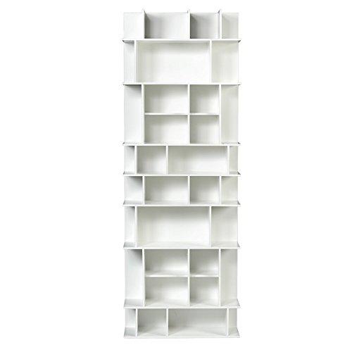 Paris Prix - Temahome - étagère Bibliothèque Panorama Gm Blanc Mat