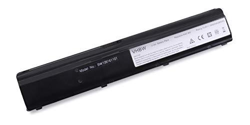 vhbw Batterie LI-ION 4400mAh 14.8V Noir Compatible pour ASUS remplace 15-100360301/90-N95B1000 / 90-N95B1100 / 90-N95B1200 / A42-M6