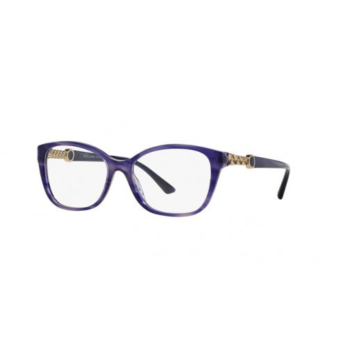 Occhiali da vista Bulgari BV4109 5365 blu blue eyeglasses sehbrille donna woman, 52-16