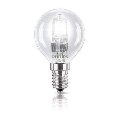 Philips - Lot de 3 ampoules halogènes P45 classiques économes en énergie - 28 W - En forme de balle de golf - Fixation à vis E14 - De haute qualité - Finition transparente.