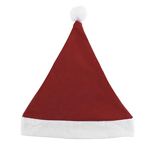 CHOULI Christmas Cap Thick Ultra Soft Plush Santa Claus Holiday Fancy Dress Hat Red & White