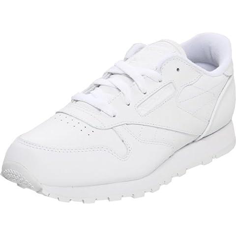 Reebok - Zapatillas de deporte de cuero para niño Blanco blanco