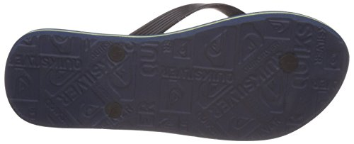 Quiksilver Molokai Ag47 Re M Sndl Xkbg, Tongs homme Multicolore (Black/Blue/Green)