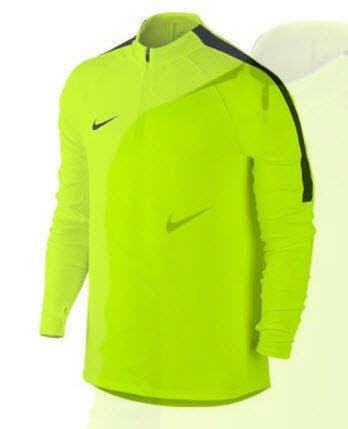 Nike Squad Langarm-T-Shirt für Herren, 807063–065 S gelb (volt / schwarz / schwarz) Männer Nike Dri-fit Shirt