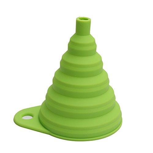 Embudo de Silicona Plegable Color Verde