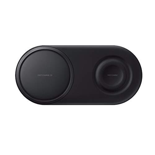 12shage_Wireless Charger Pad für Samsung Galaxy S10 / S10 + / Uhr S2 / 3, 2 in 1 Schnellladung gut für den Einsatz zu Hause, im Büro oder im öffentlichen Bereich (Schwarz) (Lg G3 Wireless Dock Charger)