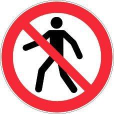Novap Señal rígida de prohibido el paso a los peatones, 300 mm de diámetro