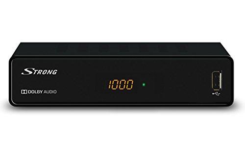 STRONG SRT 3001 Kabelreceiver für digitales Kabelfernsehen in HD (HDTV, DVBC, DVB-C, USB, HDMI, SCART, EPG, Radioprogramme, geeignet für Ihr Kabelnetz: Vodafone, Unitymedia, Full HD) mit Display - schwarz