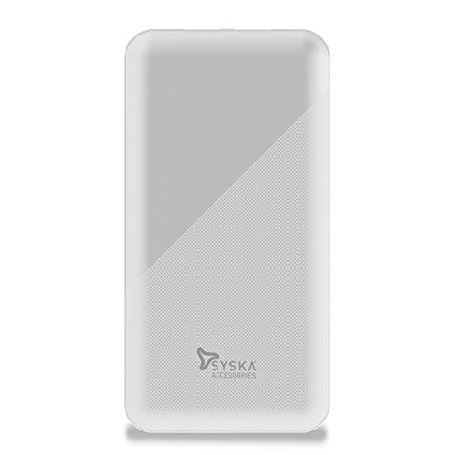 Syska Power Core 100 P1015B-WH 10000mAH Lithium Polymer Power Bank (White)