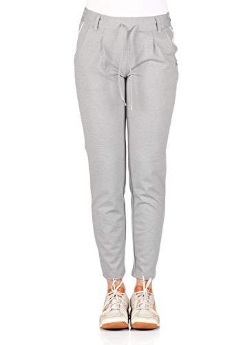 TOM TAILOR Denim Damen Ponte Trackpants, Größe:XL, Farbe:Light Silver Grey Mélange (10367) -