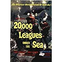 Vintage 20,000 Leagues Under the Sea Movie Poster A3 Print