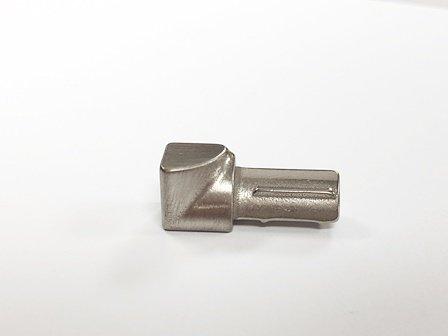 Innenecke Edelstahl V2A gebürstet Viertelkreis 10 mm