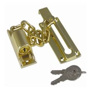 Asec Locking Door Chain Brass by Asec