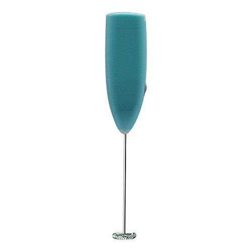 milopon espumador de leche Leche ICO PTER acoplador de batidor acero inoxidable funciona con pilas Licuadora mezclador de varillas (como S de Liquid azul