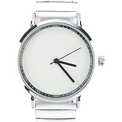 Michael John Damen-Armbanduhr Armband Weiß Zifferblatt Stahl Lola