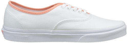 Vans Authentic, Unisex-Erwachsene Sneakers Weiß (pop Binding/true White/desert Flower)