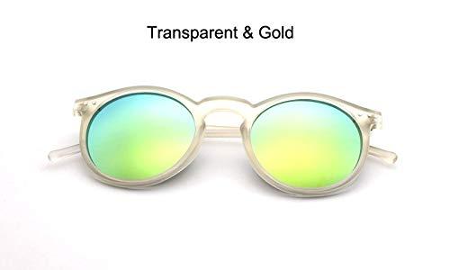 YUHANGH Mode Trend Runde Sonnenbrille Frauen Multicolor Rahmen Mercury Spiegel Objektiv Gläser Männer Beschichtung Runde Sonnenbrille Männer