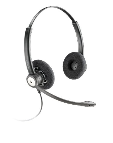 Plantronics HW121N/A Entera NC Kopfbuegelmodell Binaural Headset schwarz - Nc-flat